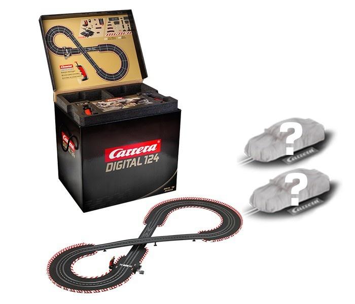 Carrera Dig. 124 Mix n Race incl. 2 D124-Fahrzeugen n.Wahl