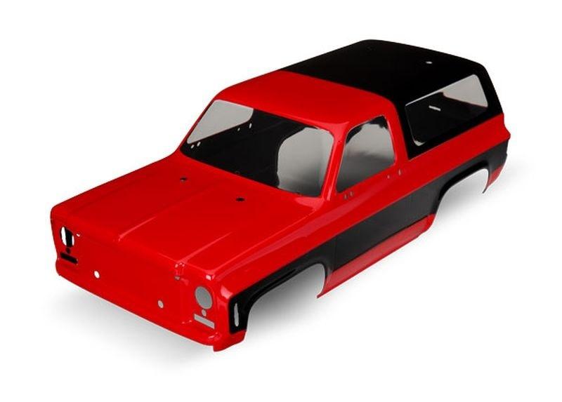 Traxxas Karo Chevrolet Blazer (1979) rot (ohne Anbauteile)