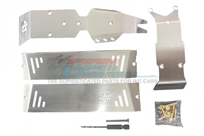 GPM stainless steel skid plates for front, center, rear