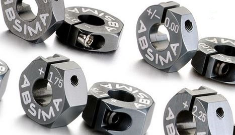 Absima Alu 7075 T6 Radmitnehmer 12mm Offset +1,75mm 1:10, 2