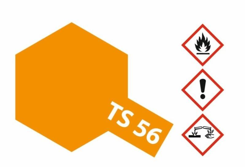 Tamiya Acryl-Sprühfarbe TS-56 Brillant Orange glänzend 100ml