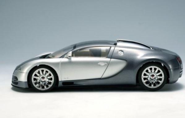 autoart bugatti eb 16.4 veyron (genf 2003) (grey/silver) - modellbau