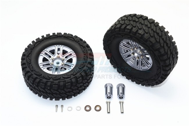 GPM aluminum 6 pole wheels & crawler tire + 23mm hex adapter