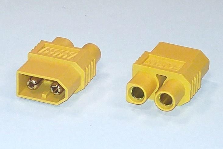 Kurzadapter XT60-Stecker - EC3-Buchse, 1 Stück, lose