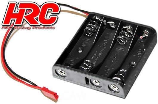 Auslauf - HRC Batteriehalterung - AA - 4 Zellen - Flach -
