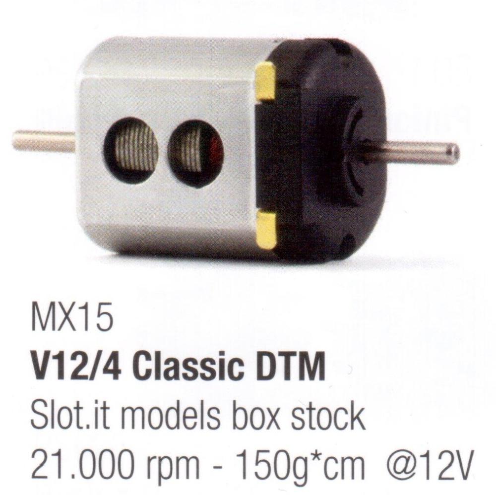 Slot.It Motor schwarz, V12/4 Classic DTM 21000U/min 12V 150g