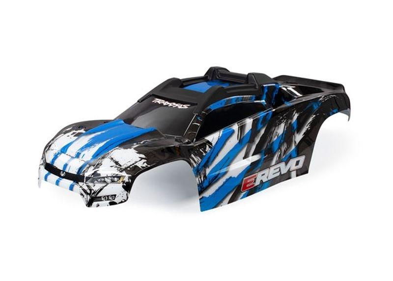 Traxxas Karo E-REVO blau mit Aufkleber TRAXXAS