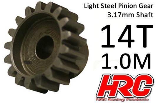 HRC Motorritzel - 1.0M / 3.17mm Achse - Stahl - Leicht - 14Z