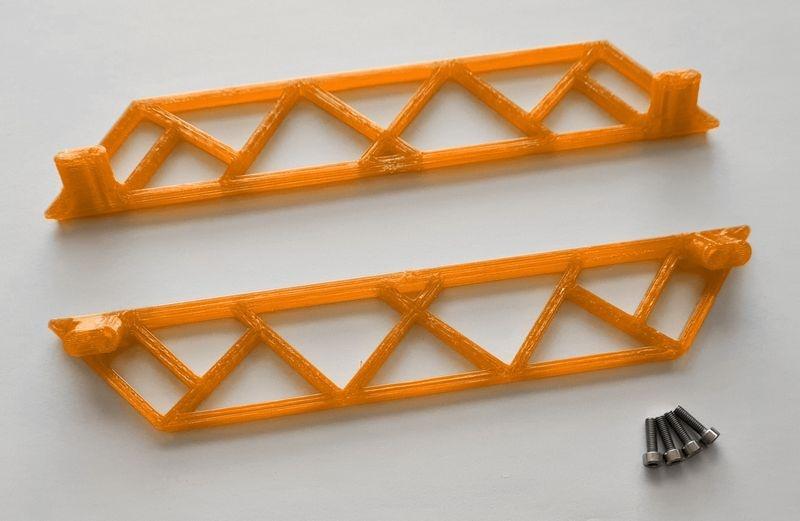 JS-Parts ultraflex Sidebar für Traxxas X-Maxx orange