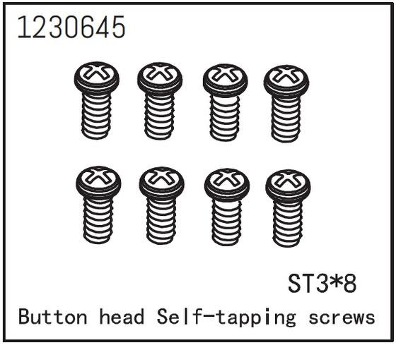 Absima Kopfschraube selbstsichernd M3*8 (8)