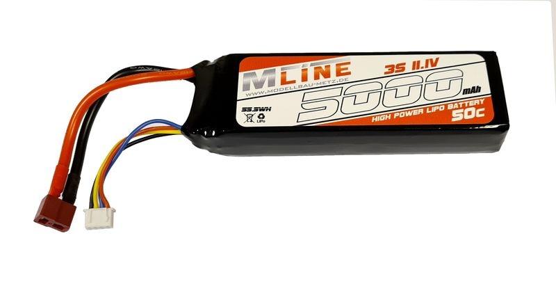 MLine Power Racing LiPo Akku 50C - 5000MAH - 3S -