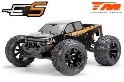 Team Magic E5 4WD Monster Truck Schwarz Brushed 2.4GHz