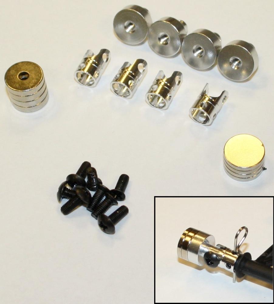 Monstertronic Magnet-Karosseriehalterung schwarz, 1:10