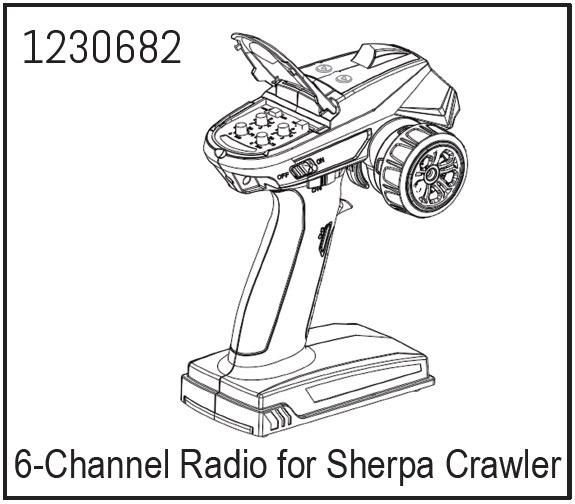 Absima 6-Kanal Fernsteuerung für CR3.4 Crawler Ersatzteil f.