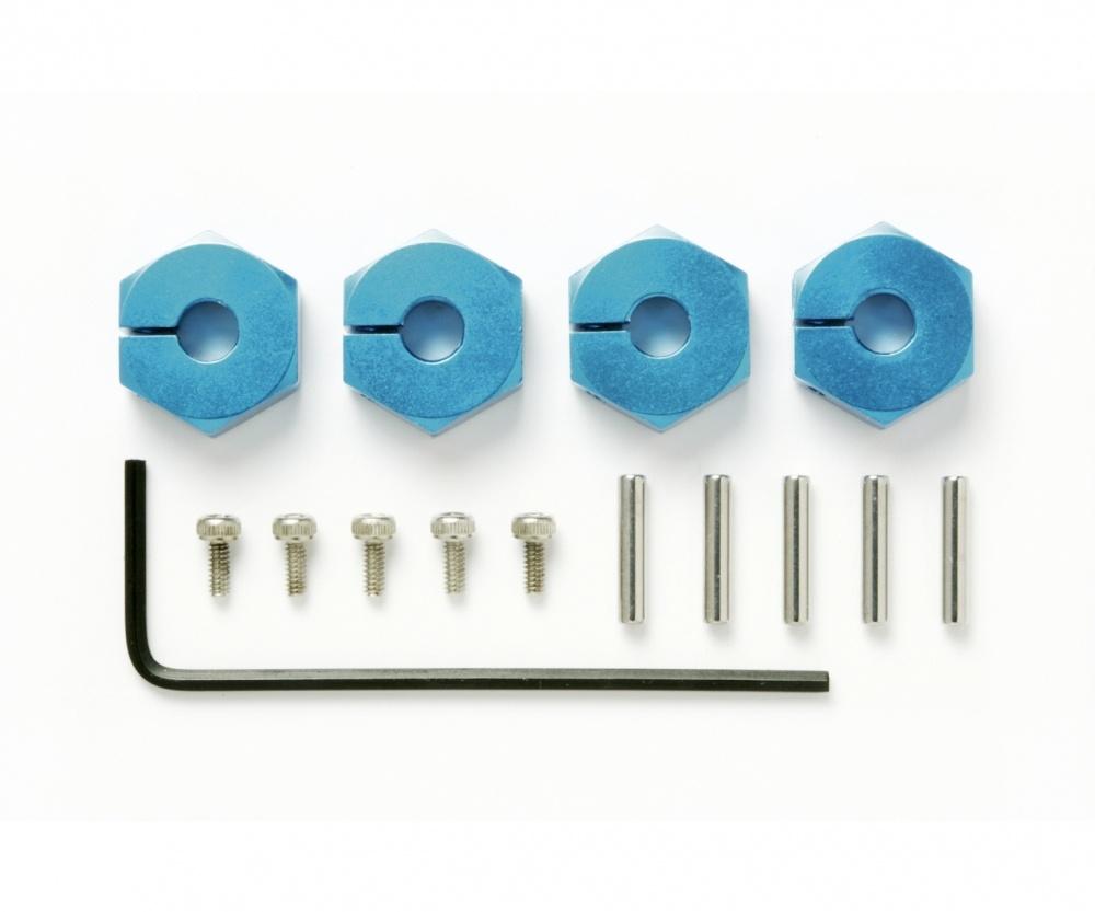 Tamiya Radmitnehmer (4) Alu 5mm blau