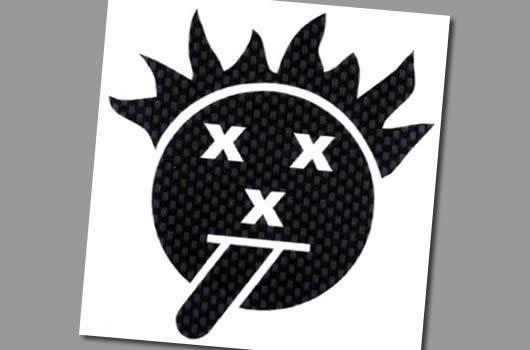 XXX Main Aufkleber - Psycho xxx Smile ? Carbon
