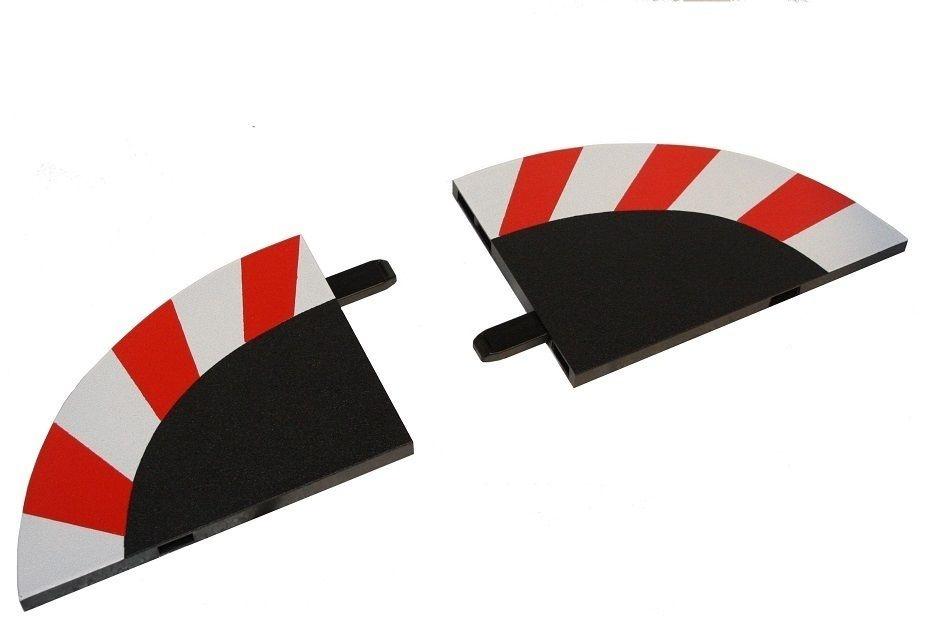 Carrera 1 Paar (links & rechts) Randstreifen Endstücke
