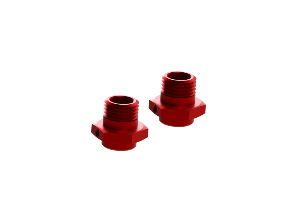 Arrma RC Aluminium Sechskant-Radmitnehmer 17,6mm rot (2)