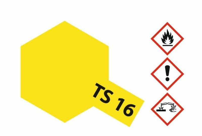 Tamiya Acryl-Sprühfarbe TS-16 Gelb glänzend 100ml