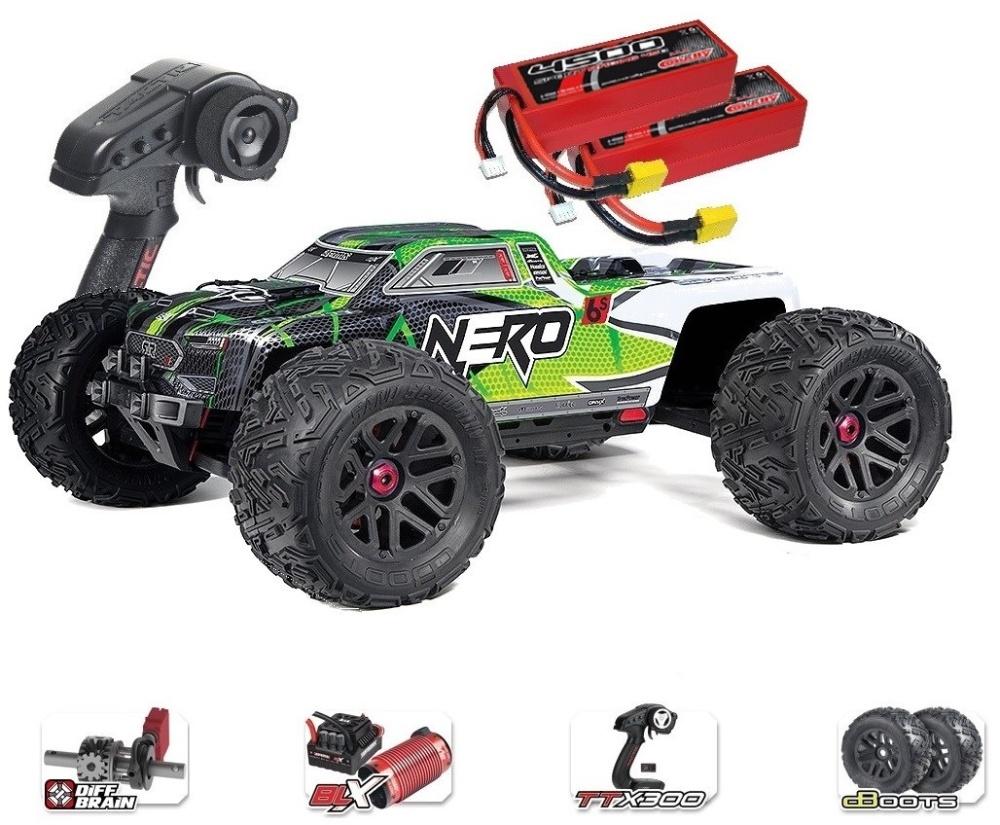 ARRMA NERO 6S 4WD BLX Monster Truck RTR, grün - SPARSET4 -