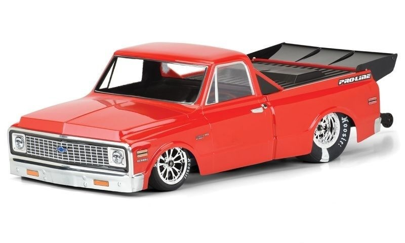 Pro-Line 1972 Chevy C-10 Karo klar für Slash 2WD Drag Car
