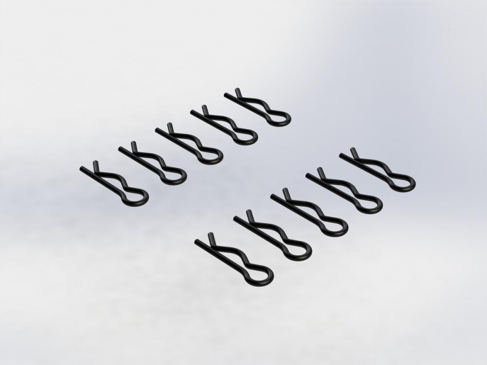 Arrma RC Karosserieklammern gross schwarz (10)