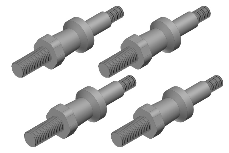 Team Corally Shock Screw - Steel - 4 pcs