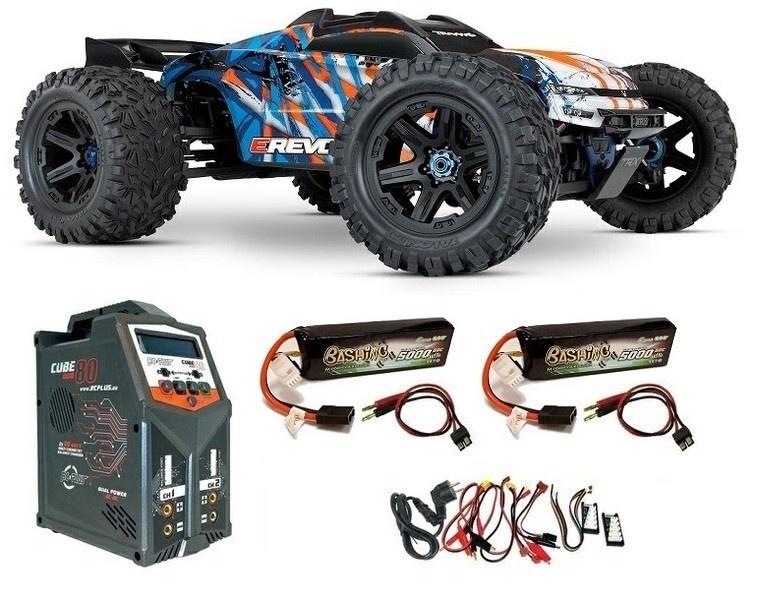 Traxxas E-Revo VXL 4WD Elektro MT BL blau/orange Version2018