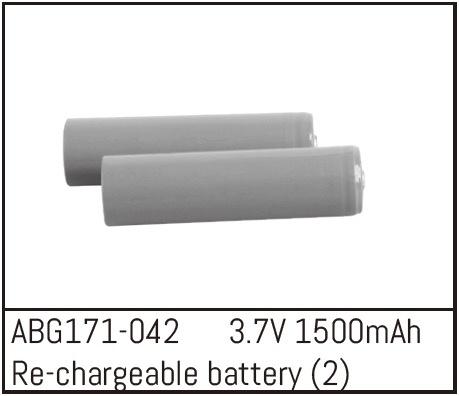 Absima Re-chargeable Li-Ion Batteries - 3.7V 1500mAh (2)