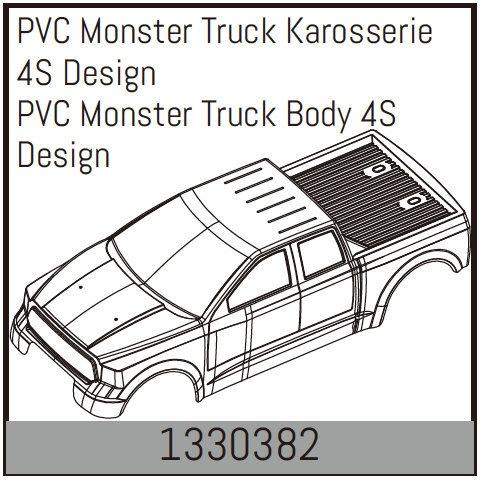 Absima PVC Monster Truck Karosserie 4S Design