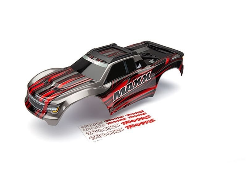 Traxxas Karo Maxx rot lackiert + Decal Sheet