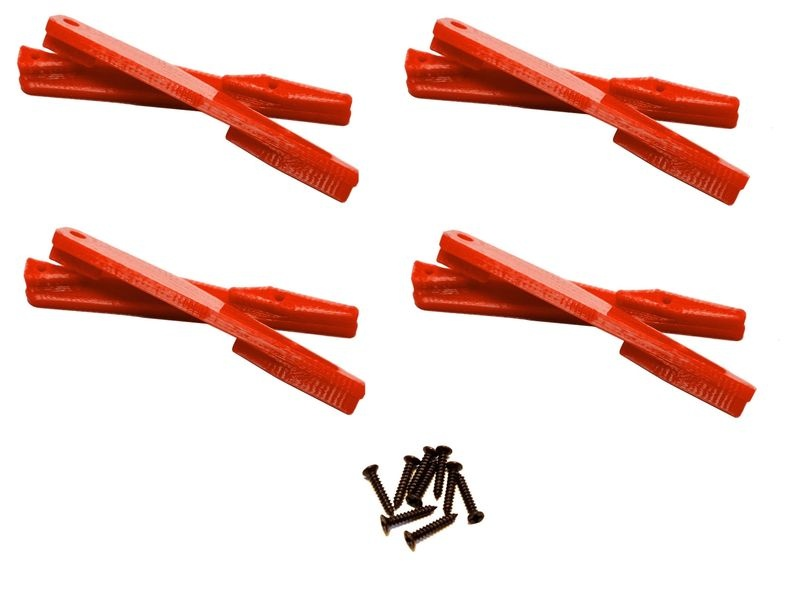 JS-Parts Einleger Querlenker oben für Team Magic E6 rot