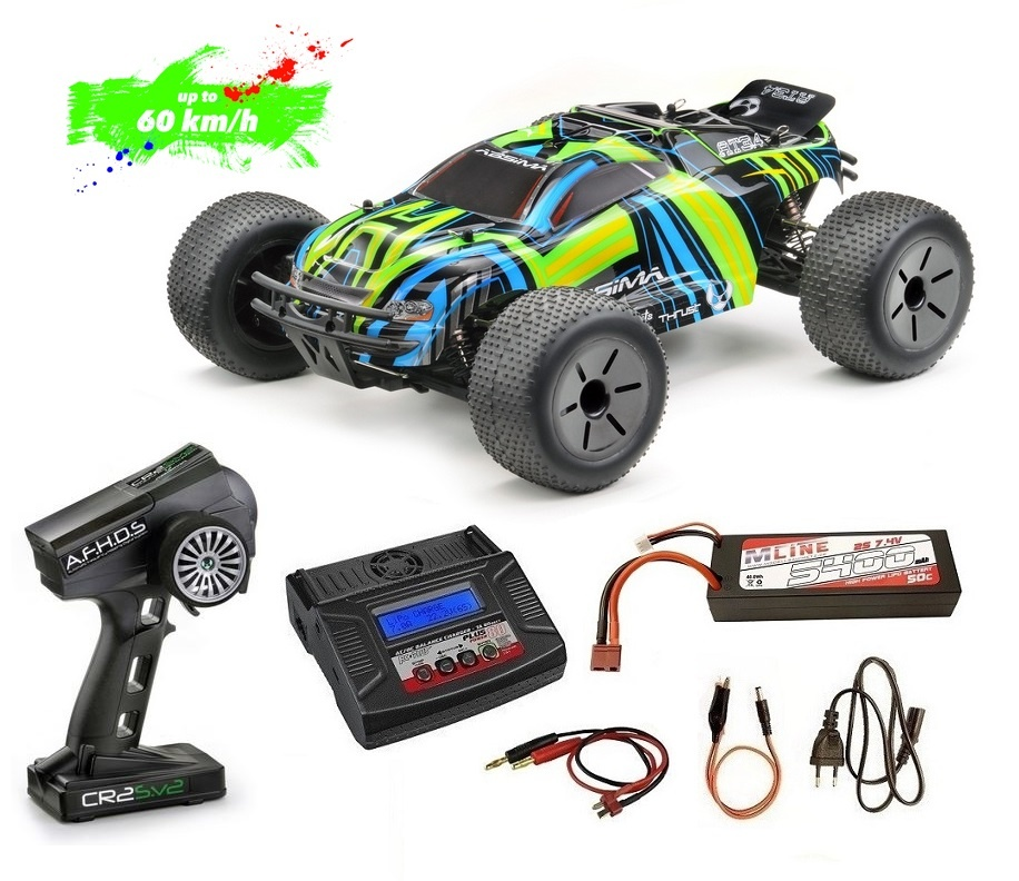 Absima 1:10 EP Truggy AT3.4BL 4WD Brushless RTR --Sparset