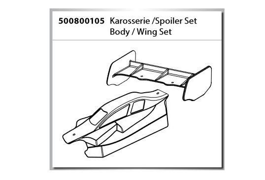 Carson Karosserie/Spoiler-Set X10 Dirt Warrior Sport 2.0