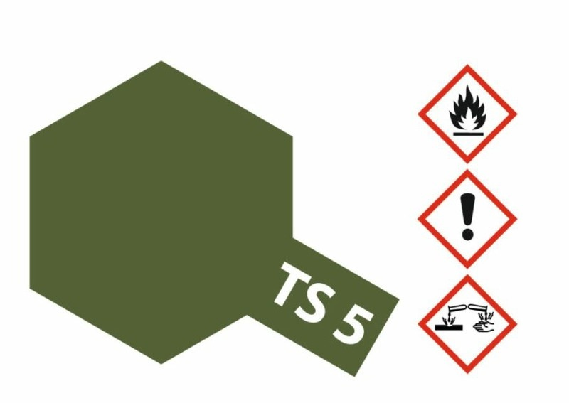 Tamiya Acryl-Sprühfarbe TS-5 Braunoliv1 (Olive Drab1)