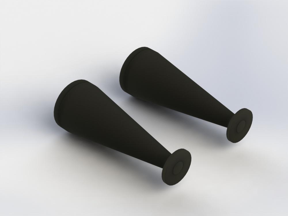 Arrma RC Dämpfer-Staubschutzmanschetten schwarz 40mm (2)