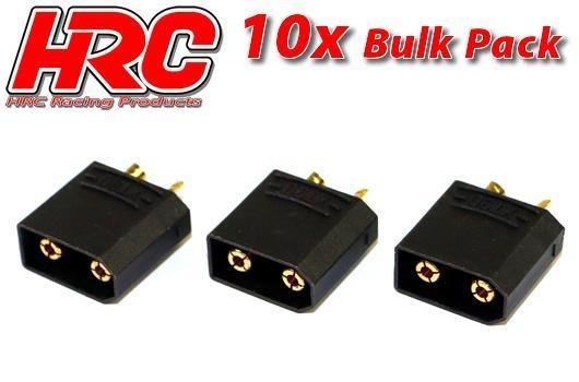 HRC Stecker - Gold - XT90 SCHWARZ - männchen (10 Stk.)