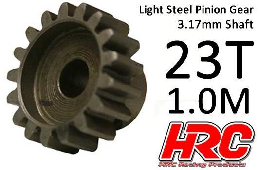 HRC Motorritzel - 1.0M / 3.17mm Achse - Stahl - Leicht - 23Z