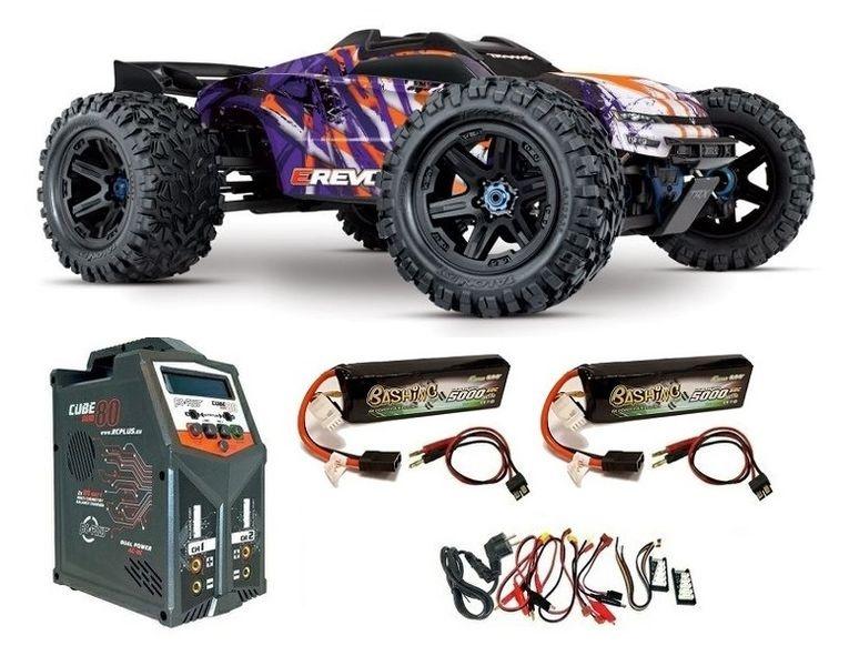 Traxxas E-REVO BL 2.0 4x4 VXL purple 4WD Racing Truck