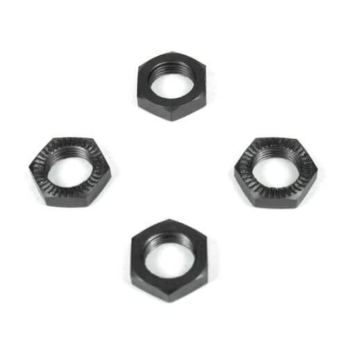 Tekno RC TKR5116 - Wheel Nuts (17mm, serrated, gun metal