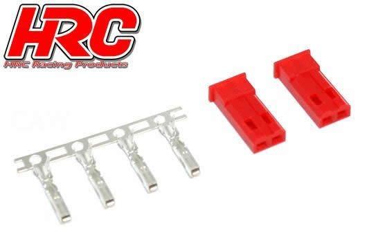 HRC Racing Stecker - JST / BEC männchen (2 Stk.)