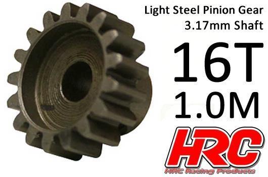 HRC Motorritzel - 1.0M / 3.17mm Achse - Stahl - Leicht - 16Z