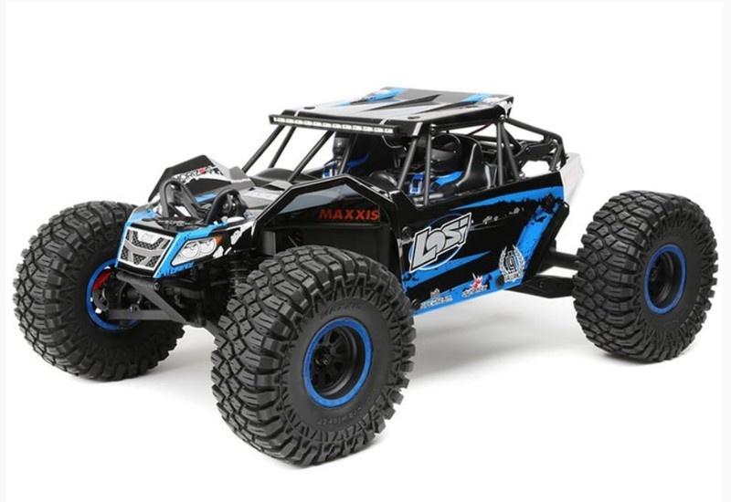 Losi Rock Rey 4WD Rock Racer AVC blau RTR 1:10