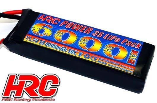 HRC Racing Akku - LiPo 3S - 11.1V 6000mAh 50C/100C -