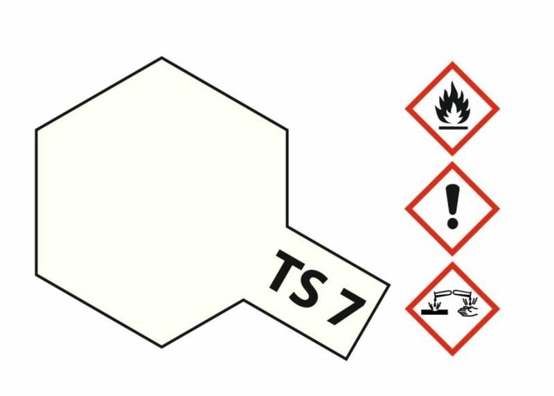 Tamiya Acryl-Sprühfarbe TS-7 Racing-Weiss glänzend 100ml