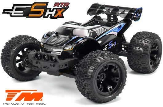 Team Magic E5 HX 4WD Electric Monster Truck Schwarz/Blau