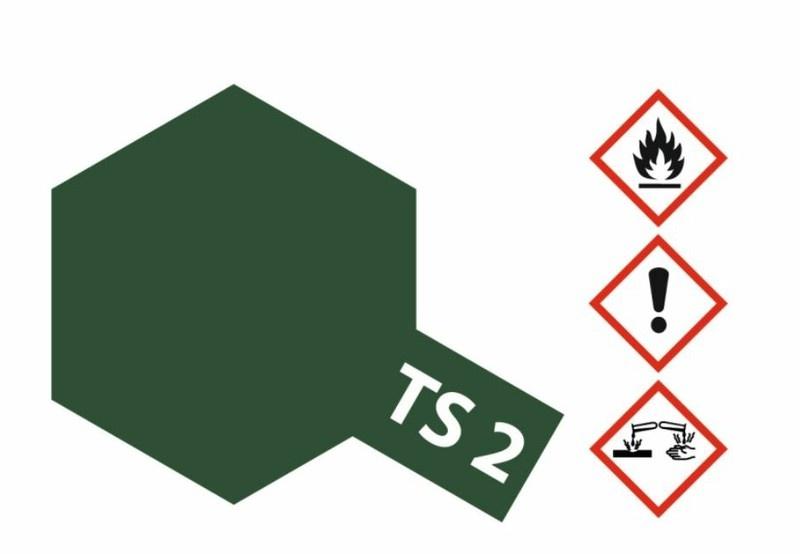 Tamiya Acryl-Sprühfarbe TS-2 Dunkelgrün matt 100ml