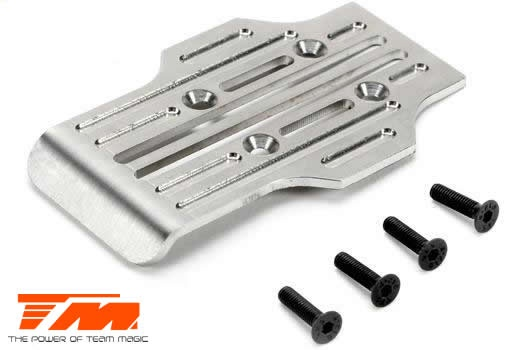 Team Magic Option Part - E5 - CNC Machined Stainless Chassis