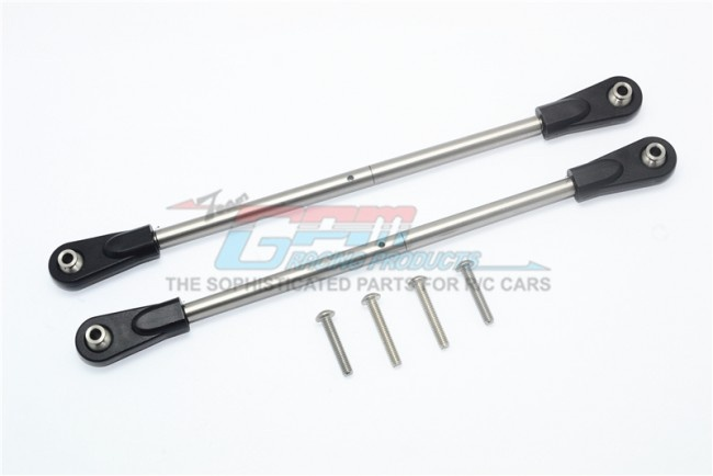 GPM stainless steel adjustable rear upper chassis link tie