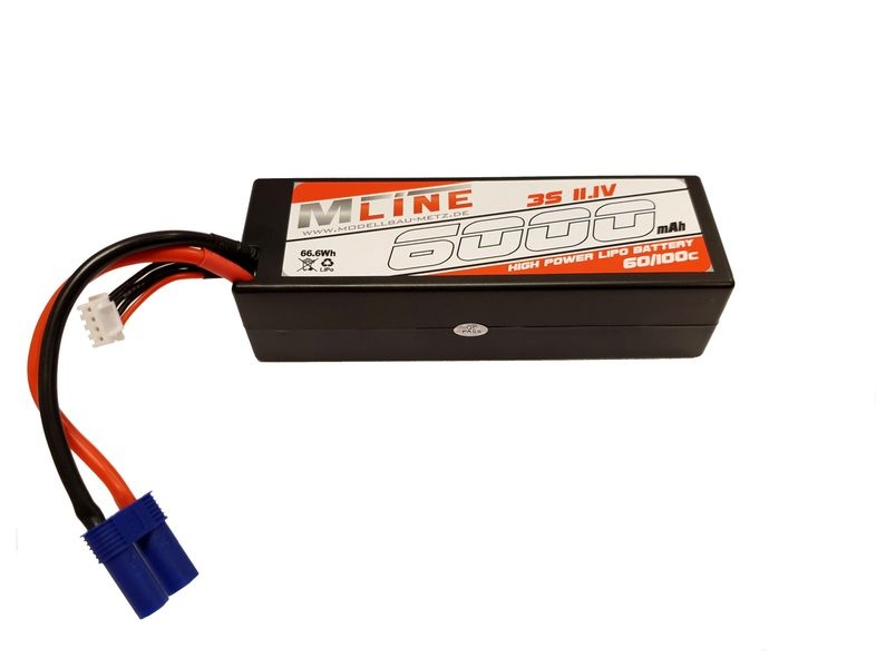 MLine High Power LiPo Akku 60/100C 3S 11,1V 6000mAh EC5